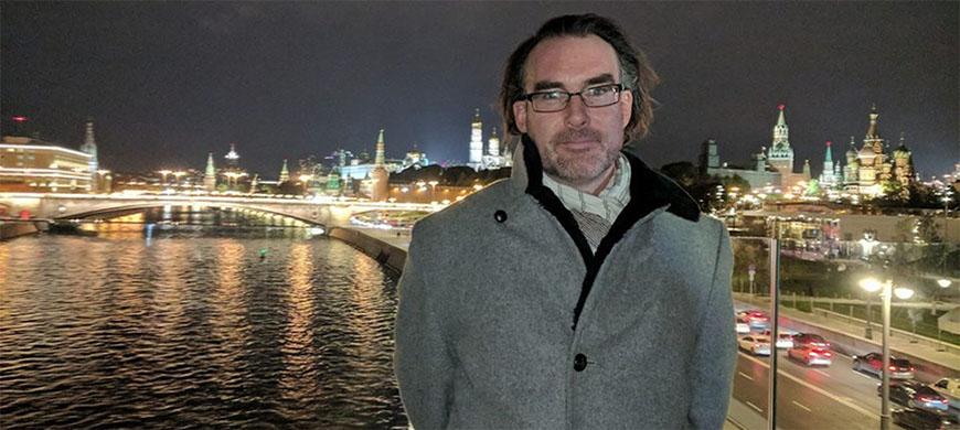 Western professor travels to Russia to talk art forgery, graduate studies