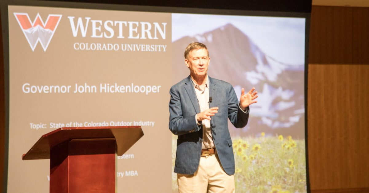 Governor Hickenlooper visits Western to discuss Outdoor Industry MBA