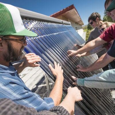 Western solar panels
