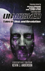 """Photo of a book titled, """"Unmasked"""""""