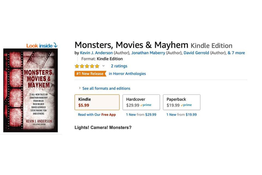 Amazon Book Monsters, Moviews & Mayhem