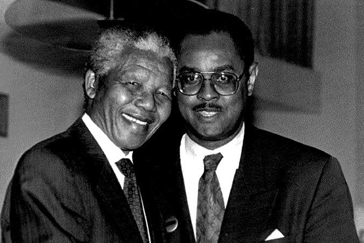 Melvin Foote and Nelson Mandela
