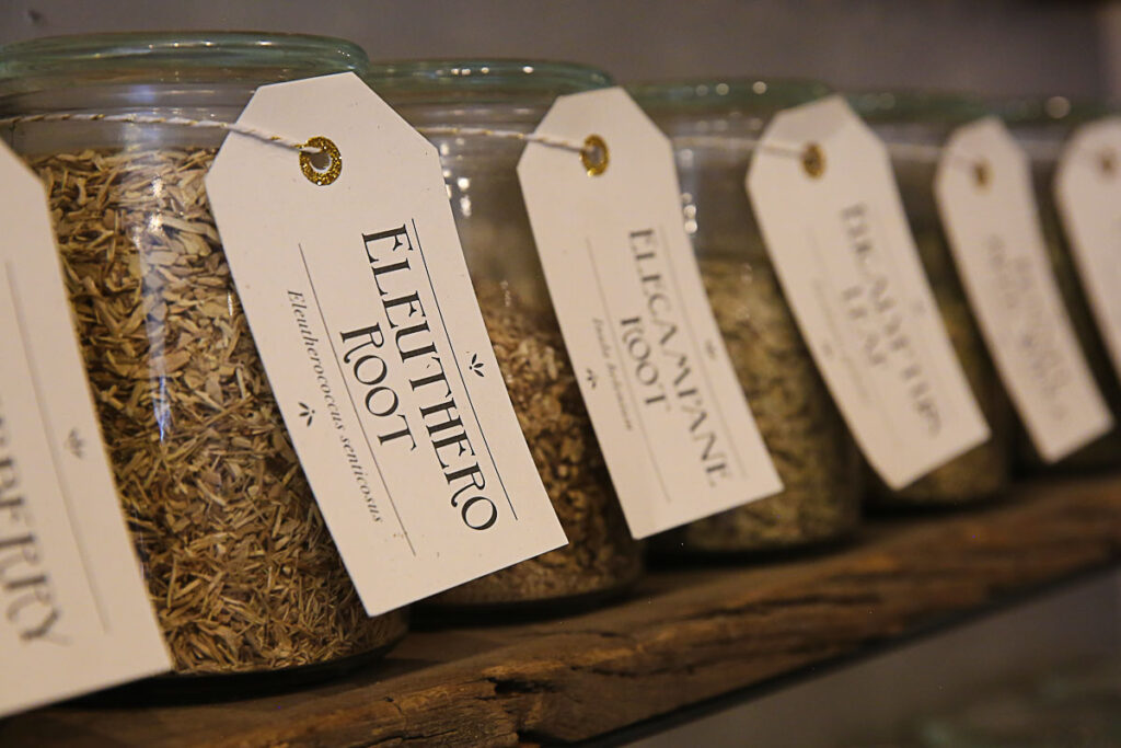 rooted apothecary herbs
